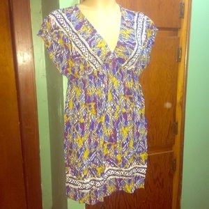 Multicolor Hippie Dress